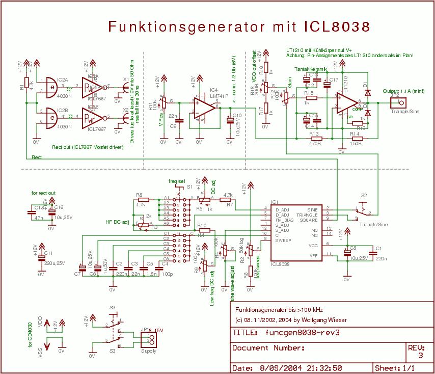 схема функциональный генератор - Сделай сам!