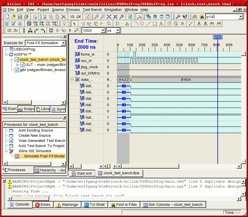 ise-screen-waveform-input Xilinx Schematic on