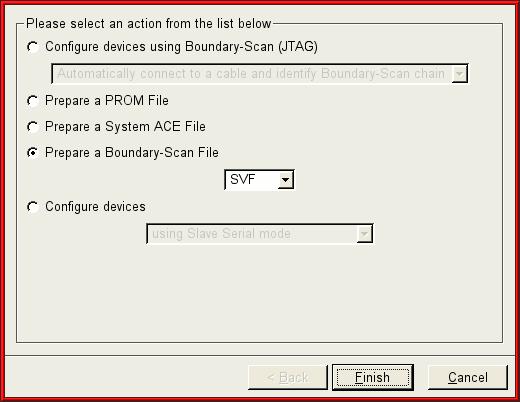 Creating SVF files in Xilinx ISE WebPACK